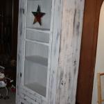 Primitive Screen Door Cupboard